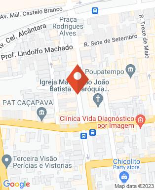 Mapa da empresa Uniodonto Caçapava