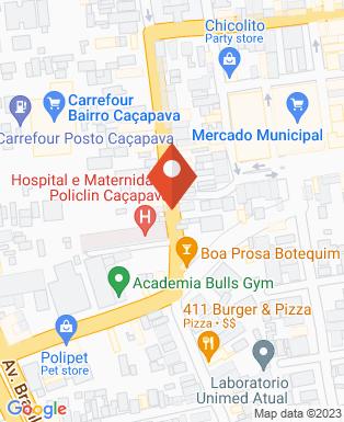 Mapa da empresa Hospital e Maternidade Policlin Caçapava