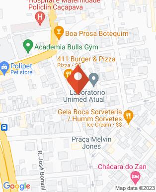 Mapa da empresa Unimed Caçapava
