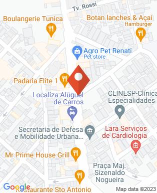 Mapa da empresa Faculdade SA Caçapava