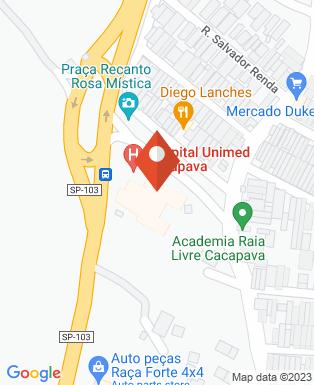 Mapa da empresa Hospital Unimed Caçapava