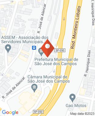 Mapa da empresa Prefeitura Municipal de São José dos Campos