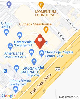 Mapa da empresa Cinemark - Center Vale