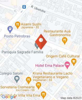 Mapa da empresa Paróquia Sagrada Família - SJC