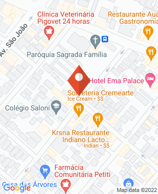 Mapa da empresa Supera Comunicação