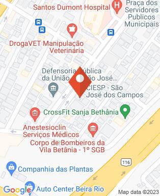 Mapa da empresa Centro das Indústrias do Estado de São Paulo - São José dos Campos