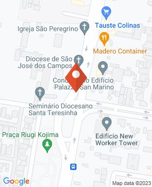 Mapa da empresa Unisal Lorena - Polo São José dos Campos