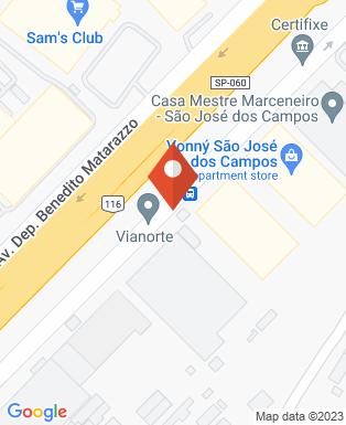 Mapa da empresa Aernnova Aerospace do Brasil
