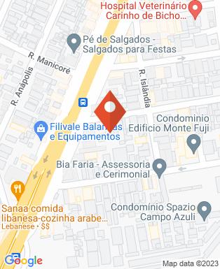 Mapa da empresa Pizzani Química Industrial - Casa do Óleo