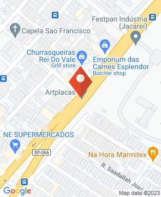 Mapa da empresa HE Indústria Mecânica