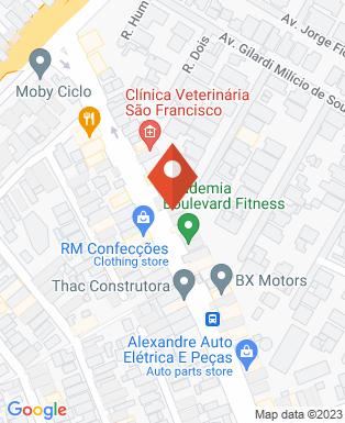 Mapa da empresa N-tec Projetos e Instalações