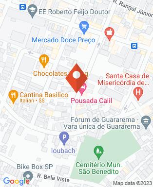 Mapa da empresa Pousada Calil