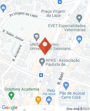 Mapa da empresa APAS - Associação Paulista de Supermercados