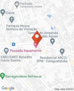 Mapa da empresa Aquamarine Pousada E Chales