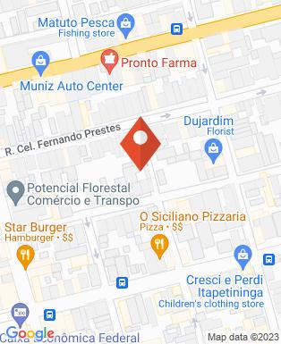 Mapa da empresa Real Gramas