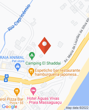 Mapa da empresa Pousada Pé na Areia