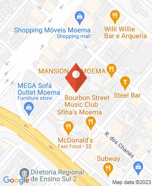 Mapa da empresa Bourbon Street Music Club