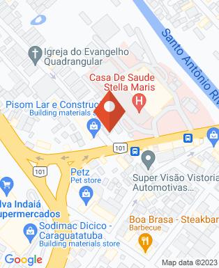 Mapa da empresa Funerária Caraguatatuba
