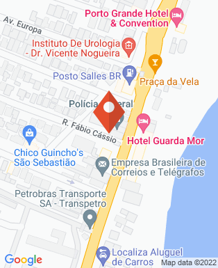 Mapa da empresa Delegacia da Policia Federal de São Sebastião