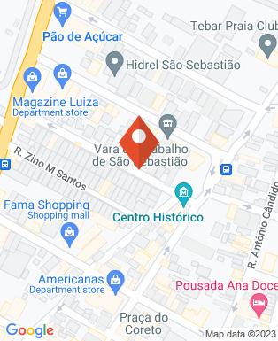 Mapa da empresa Câmara Municipal de São Sebastião
