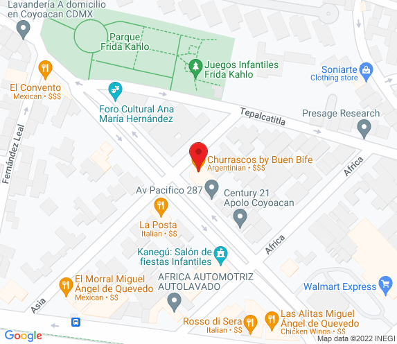 Buen Bife Tienda  Coyoacán map