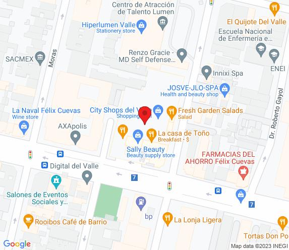 Buen Bife Tienda Cassual Félix Cuevas map