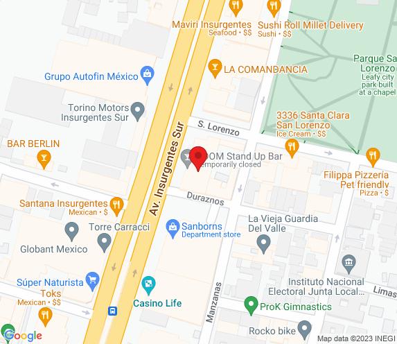Buen Bife Tienda Insurgentes map