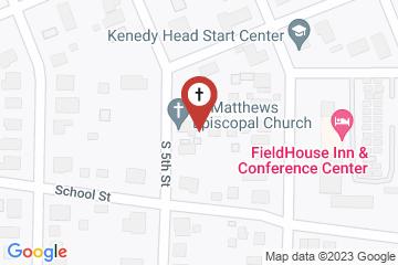 Map of St. Matthew's Episcopal Church