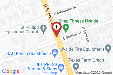 Map of St. Philip's Episcopal Church
