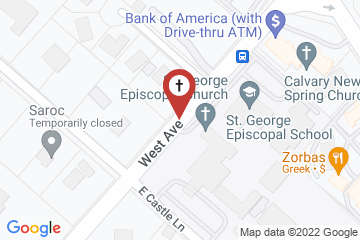 Map of St George Episcopal Church