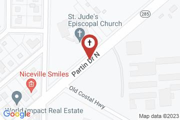 Map of St. Jude's Episcopal Church