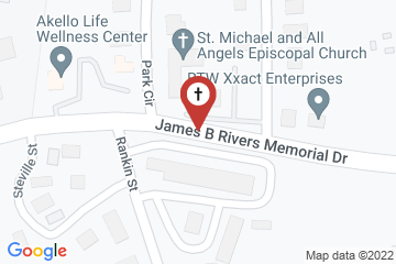Map of St. Michael & All Angels Episcopal Church