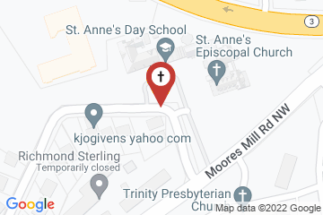 Map of St Anne's Episcopal Church and Day School