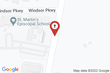 Map of St. Martin in the Fields Episcopal Church