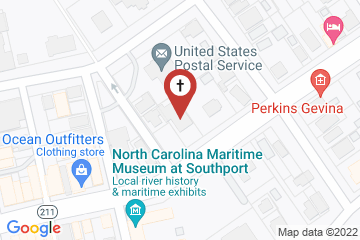 Map of St. Philip's Episcopal Church, Southport, NC