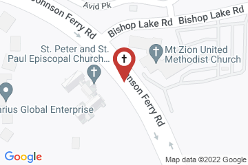 Map of Church of St. Peter & St. Paul