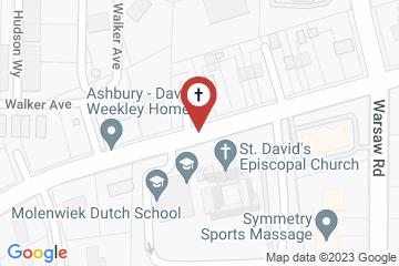 Map of St Davids Episcopal Church