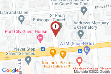 Map of St Paul's Episcopal Church, Wilmington, North Carolina