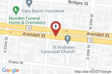 Map of St. Andrew's Episcopal Church, Morehead City, North Carolina