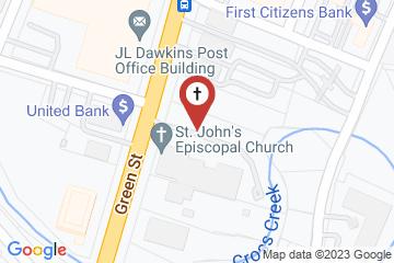 Map of St. John's Episcopal Church, Fayetteville, North Carolina