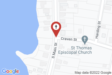 Map of St. Thomas Episcopal Church, Bath, North Carolina