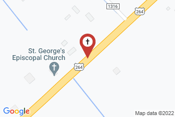 Map of St. George's Episcopal Church, Englehard, North Carolina