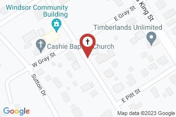 Map of St. Thomas Episcopal Church, Windsor, North Carolina