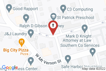 Map of St. Patrick's Episcopal Church