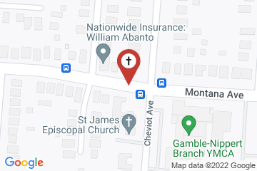 Map of St. James Episcopal Church - Westwood