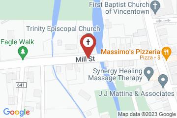 Map of Trinity Episcopal Church