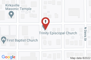 Map of Trinity Episcopal Church, Kirksville