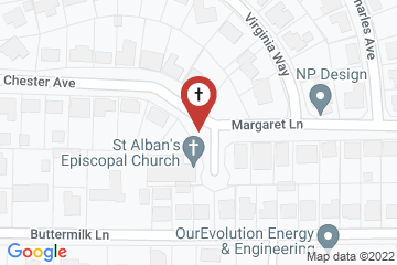 Map of St. Alban's Episcopal Church
