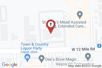 Map of St. David's Episcopal Church