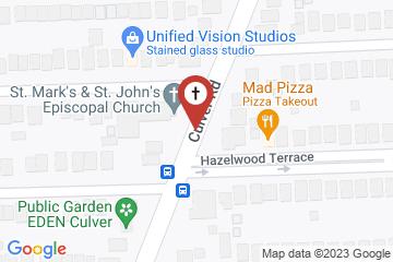 Map of St. Mark's & St. John's Episcopal Church
